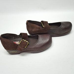 Lucky Brand Shoes - Lucky Brand Mary Jane Brown Leather Clogs